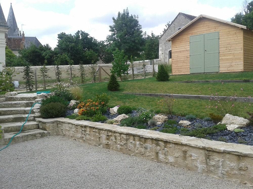 Am nagement jardin en pente lantana paysage - Amenagement d un jardin ...