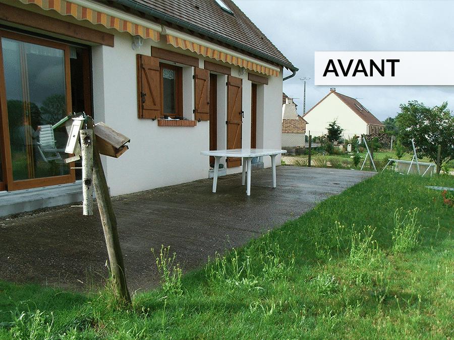 Aménagement terrasse et jardin AVANT / APRÈS - Lantana Paysage