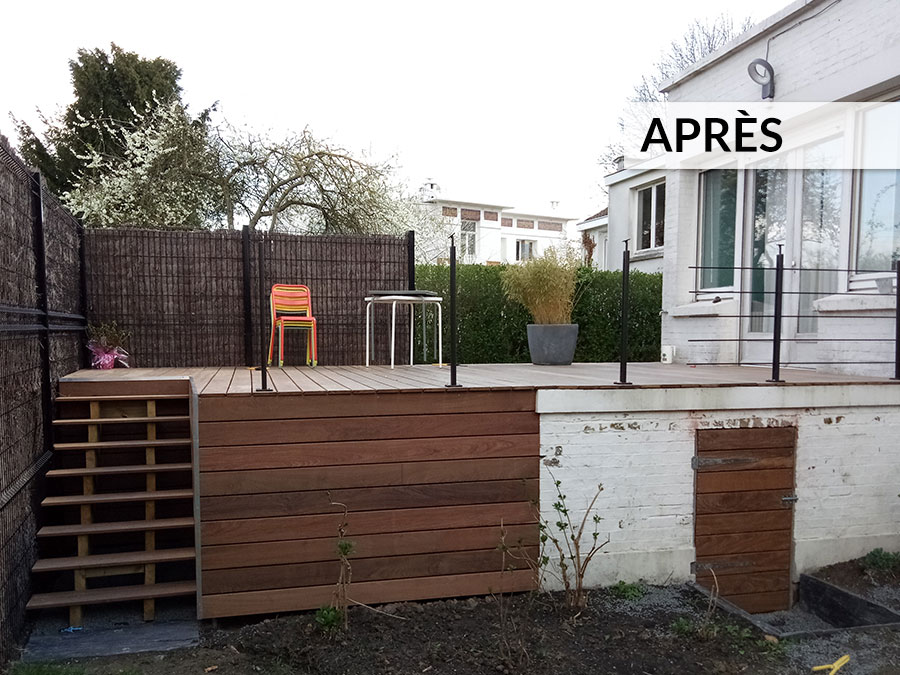 Amenagement Terrasse Surelevee En Bois Avant Apres